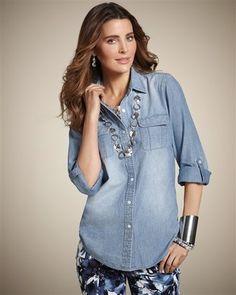 ShopStyle: Denim Delight Peggy Shirt
