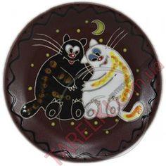 Тарелка декоративная Толстые Коты Добра Глина st531032