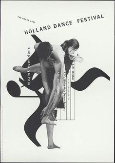Holland dance festival the hague 1995 _ Studio Dumbar