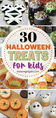 Happy Halloween! Plan the perfect Halloween party for your friends and family. These 30 Halloween treats for kids will be the hit of the Halloween party. These easy Halloween recipes are perfect to celebrate a bewitching fall season. Try these seasonal Halloween recipes for your family. Halloween Treats For Kids, Easy Halloween Food, Halloween Crafts, Happy Halloween, Halloween Party, Candy Corn Cupcakes, Homemade Costumes, Fall Treats, Top Recipes