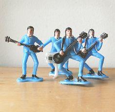 The Beatles original souvenir cake toppers.