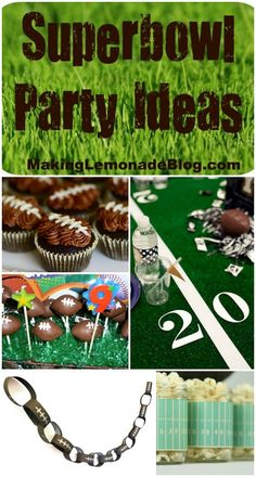 LOVE these Superbowl Party Ideas! Recipes, decorations, and more. see them all at www.makinglemonadeblog.com