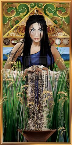 Dewi Sri is the Javanese, Sundanese, and Balinese pre-Hindu and pre-Islam era goddess of rice and fertility, still widely worshipped on the islands of Bali and Java.