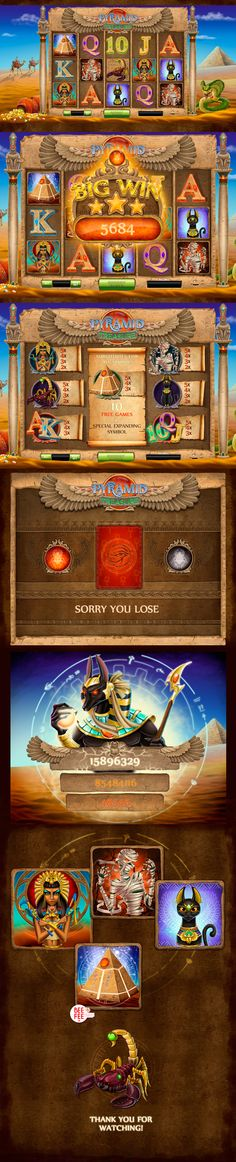 Egypt Game on Behance    #casinoslotmachine  #casinoslot  https://www.casinosolutionpro.com/casino-slot-machine/