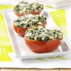 Spinach-Topped Tomatoes