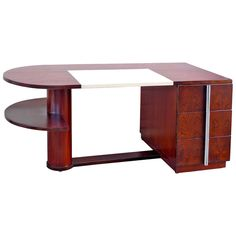 French Art Deco Rosewood Desk by Dominique Art Deco Desk, Student Room, Cool Office, Modern Desk, Writing Desk, French Art, Design Firms, Table Furniture, Interior Decorating