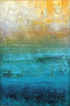 Abstract Oil, Abstract Expressionism, Gold Leaf Art, Encaustic Art, Art Abstrait, Monochrom, Abstract Backgrounds, Abstract Images, Seascape Paintings