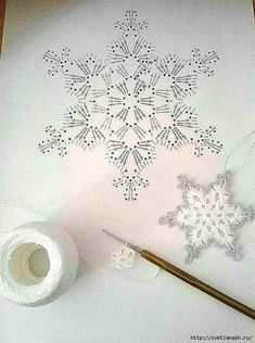 Com Crochet Snowflake Pattern & SkillOfKing.Com The post Crochet Snowflake Pattern & SkillOfKing.Com appeared first on Belle Ouellette. Crochet Snowflake Pattern, Crochet Stars, Crochet Snowflakes, Crochet Mandala, Doily Patterns, Thread Crochet, Crochet Motif, Crochet Crafts, Crochet Doilies