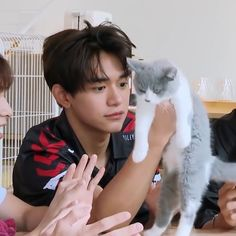 the cute boy with a lazy cat Lucas Nct, Taeyong, Jaehyun, Nct 127, Shinee, Nct Dream Renjun, Nct Life, Memes, Johnny Seo