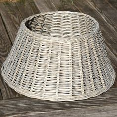 Willow Christmas Tree Skirt Basket