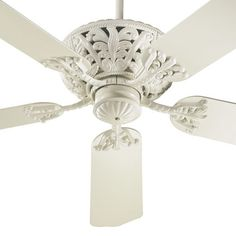 Buy the Quorum International Antique White Direct. Shop for the Quorum International Antique White Energy Star Rated Renaissance Indoor Ceiling Fan from the Windsor Collection and save. 52 Inch Ceiling Fan, Best Ceiling Fans, White Ceiling Fan, Ceiling Fan With Remote, Hunter Douglas, Living Room Lighting, Bedroom Lighting, Bedroom Ceiling, House Lighting