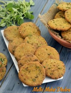 Methi Makai Bajra Dhebra, Tea Time Snack