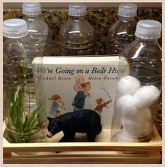 We're Going on a Bear Hunt Discovery Bottles #campingactivities