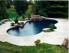 Having a pool sounds awesome especially if you are working with the best backyard pool landscaping ideas there is. How you design a proper backyard with a pool matters. Luxury Swimming Pools, Natural Swimming Pools, Dream Pools, Backyard Pool Landscaping, Swimming Pools Backyard, Swimming Pool Designs, Landscaping Ideas, Swimming Pool Waterfall, Pool Chlorine