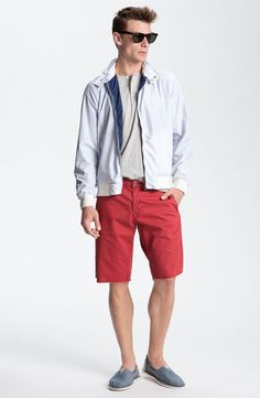 Scotch & Soda Jacket, Vince Short Sleeve Henley & Original Paperbacks Shorts #Nordstrom