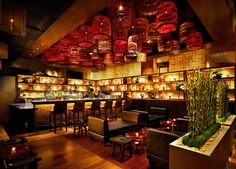 The Social House at Treasure Island is a popular Las Vegas sushi restaurant, was inspired by ancient Japanese fishing villages.