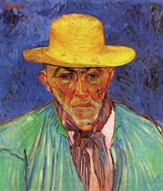 Portrait of Patience Escalier, Shepherd in Provence - Vincent van Gogh