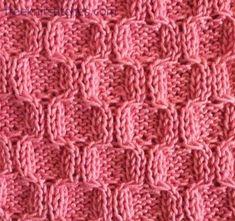 Honeycombs knitting stitches