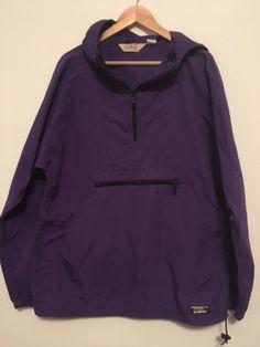 62135fd15b5 Vintage LL Bean Pullover Windbreaker Jacket Made in USA Size Men's Tall  Medium