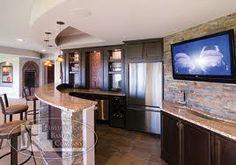 Beautiful basement bar idea.