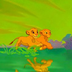 Whenever I see two little kids who are like best friends and are bound to get married, I call them Simba and nala...it's a weird habit I have