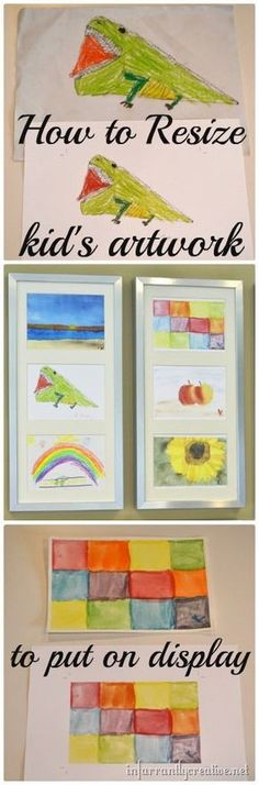 How to resize your child's art work for a great display!