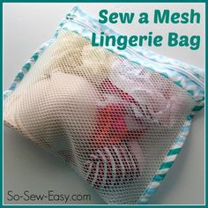 Sewing Fabric Storage Sew a mesh lingerie bag for travelling, storage or laundry - How to sew a mesh lingerie bag. Ideal when travelling and packing, for sorting lingerie in your drawer or for protecting delicate lingerie in the laundry. Lingerie Couture, Sewing Lingerie, Diy Couture, Easy Sewing Projects, Sewing Hacks, Sewing Tutorials, Sewing Crafts, Sewing Patterns Free, Free Sewing
