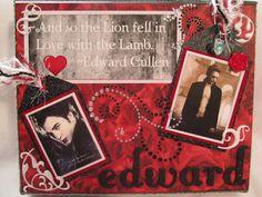 Edward Cullen scrapbook page