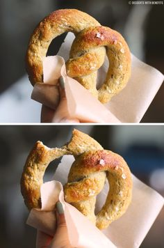 Healthy Homemade Low Carb and Gluten Free Soft Pretzels (low fat, high protein) - Desserts with Benefits #glutenfree