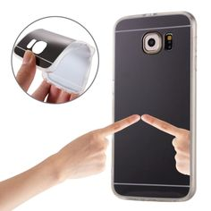 [$1.13] For Samsung Galaxy S7 / G930 Plating Mirror TPU Protective Case (Black)
