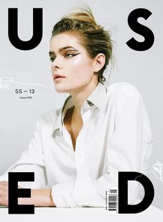 USED Magazine cover featuring Jess Gold, photography by Lena C. Emery, fashion by Katy Lassen, make up by Nami Yoshida and hair by Roku Roppongi. Art direction and design by USEFUL. Editorial Layout, Editorial Design, Editorial Fashion, Magazine Front Cover, Magazine Cover Design, Magazine Covers, Gfx Design, Print Design, Layout Design