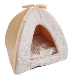 Best Pet Supplies Tent Bed Medium Beige Swirl -- Learn more by visiting the image link.