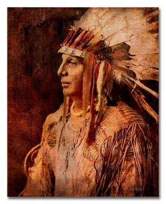 https://ift.tt/2lJzZY1 Art Print of 'Cree Warrior'. Native American Indian. American West war bonnet feathers male portrait vintage wall art. JoWalshArt