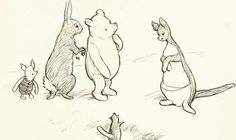 A COLLECTION of eight original Winnie-the-Pooh drawings by the illustrator E.H. Shepard are set to be auctioned off.