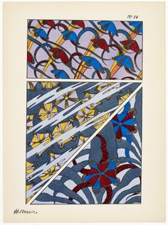 Art deco patterns from Oceanic Fantasies, by E H Raskin, Textiles, Pattern Drafting, Beautiful Patterns, Tarot, Art Deco, Quilts, Architecture, Inspiration, Fantasy