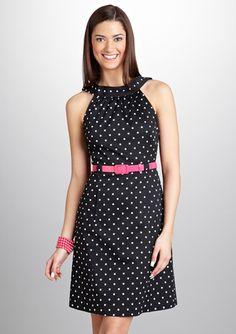 Cute V-Back Sleeveless Dress