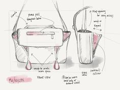 design sketches New Bag Sketches — Dana Ramler Handbags For School, Drawing Bag, Bag Illustration, How To Make Purses, Diy Handbag, Leather Projects, Fabric Bags, New Bag, Bag Accessories