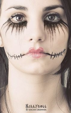 Maquiagem Halloween boneca