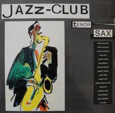 1989 Jazz-Club: Tenor Sax [Verve 840031-1] cover painting by Alice Choné #albumcover