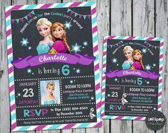 FROZEN BIRTHDAY INVITATIONS CARDS ELSA ANNA PARTY PHOTO INVITES SNOW QUEEN  #CUSTOMINVITATIONS #BIRTHDAYPARTIES