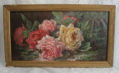 Roses painting by Paul De Longpre