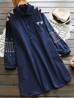SHARE & Get it FREE | Patch Pocket Embroidered Shirt DressFor Fashion Lovers only:80,000+ Items • New Arrivals Daily Join Zaful: Get YOUR $50 NOW!