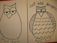 The Elementary Art Room!: Guided Drawing: Owls! by tanisha