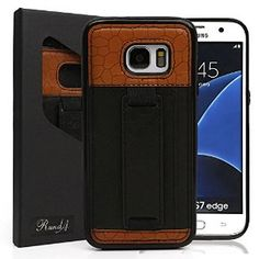 S7 Edge Case,RundA Ultra Slim Professional Genuine Leather Wallet Case with Card Slot and Kickstand for Samsung Galaxy S7 edge (Black) https://www.amazon.com/dp/B01GR4OVMU