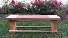 Like our canoes, our garden bench is made with beautiful hardwoods.  Comfortable, durable, and eye-catching it enhances any outdoor setting.