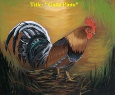 """Rooster"" Oil painting 18""x 12"" Signed by Artist. Buy 1 get 2nd 20% reduce"