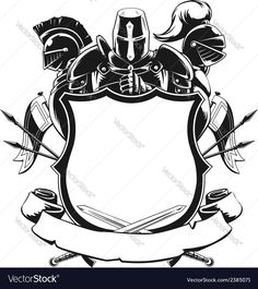 A vector set of knightly ornamental silhouette. . Download a Free Preview or High Quality Adobe Illustrator Ai, EPS, PDF and High Resolution JPEG versions.