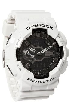 e805fcc11 G-Shock GA-110 White Mens Digital Watches, Stylish Watches, Luxury Watches