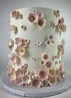 19th Birthday Cakes, Sweet 16 Birthday Cake, Elegant Birthday Cakes, Adult Birthday Cakes, Beautiful Birthday Cakes, Beautiful Cake Designs, Beautiful Cakes, Pretty Cakes, Cute Cakes