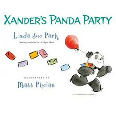 Xander's Panda Party - An adorable book about a panda who wants to throw a party for just the pandas, then just the bears, and eventually ends up inviting everyone. An author's note at the end holds some factual information about pandas. The ink and watercolor illustrations are beautiful. A fun and enjoyable read for ages 3-4 and up.